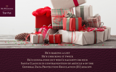 Countdown to Christmas Tip #15 – Santa Claus is in contravention of article 4 of the GDPR (EU) 2016/679