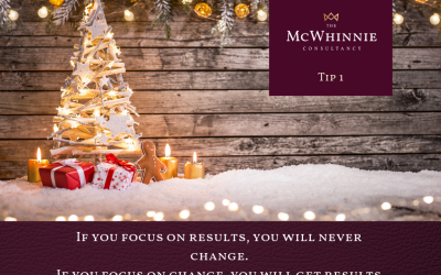 Countdown to Christmas Tip #1 – If you focus on results, you will never change. If you focus on change, you will get results.