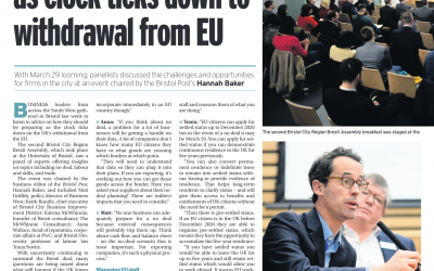 Brexit Assembly – Bristol Post Article