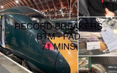 Bristol Temple Meads to London Paddington non-stop in 71 mins!!!